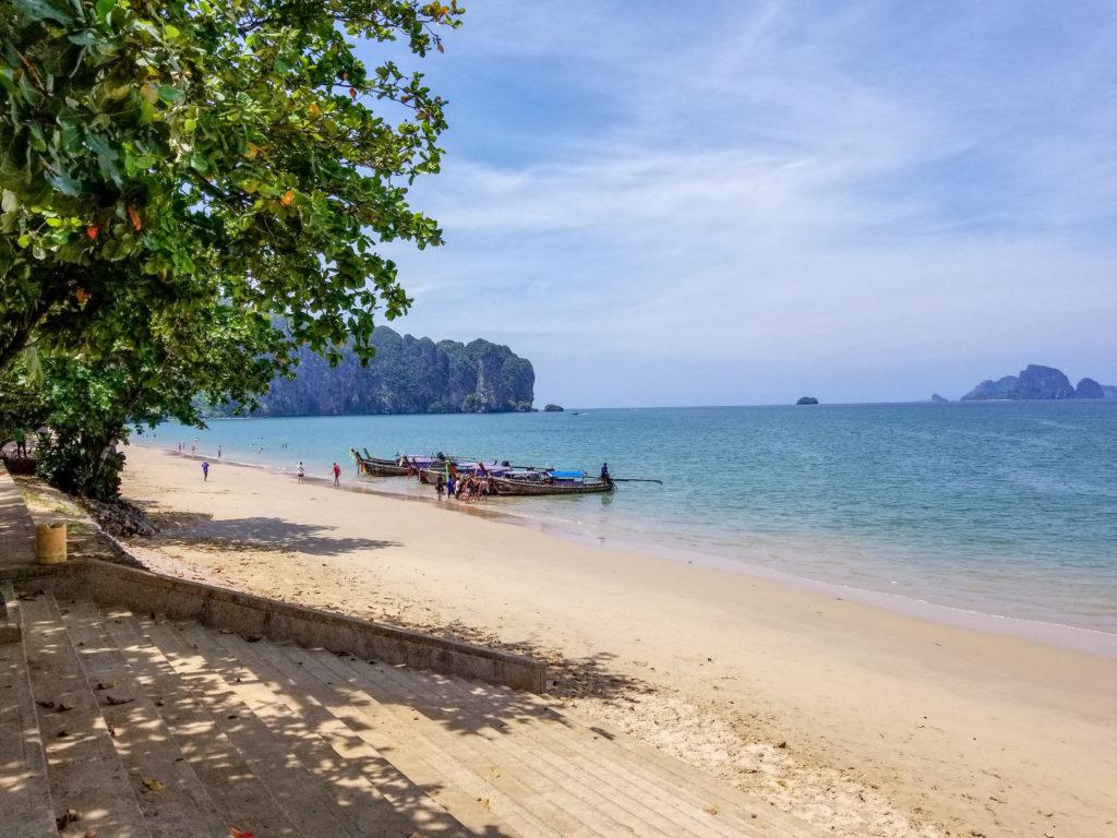 Hang out at Ao Nang beach to your 4 day Krabi Itinerary