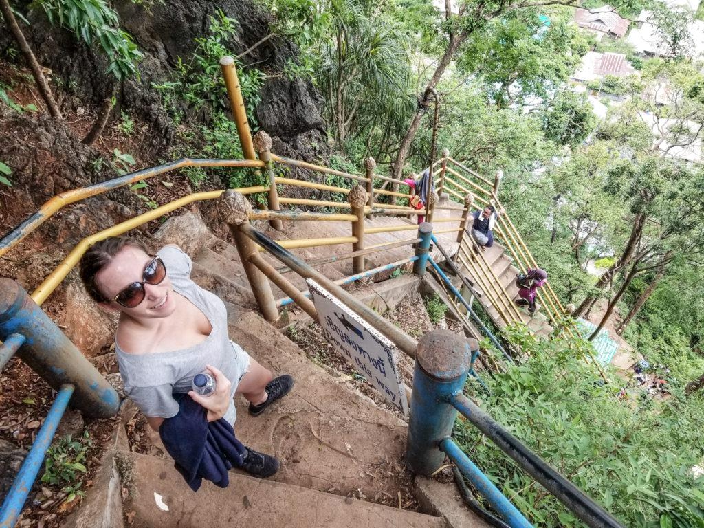Tiger Cave Temple climb in Krabi, Thailand
