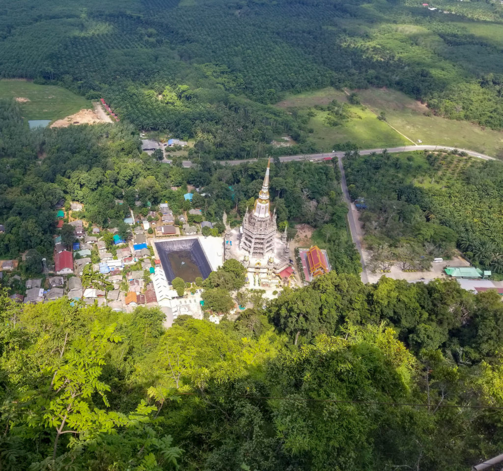 Tiger Cave Temple over look in Krabi, Thailand