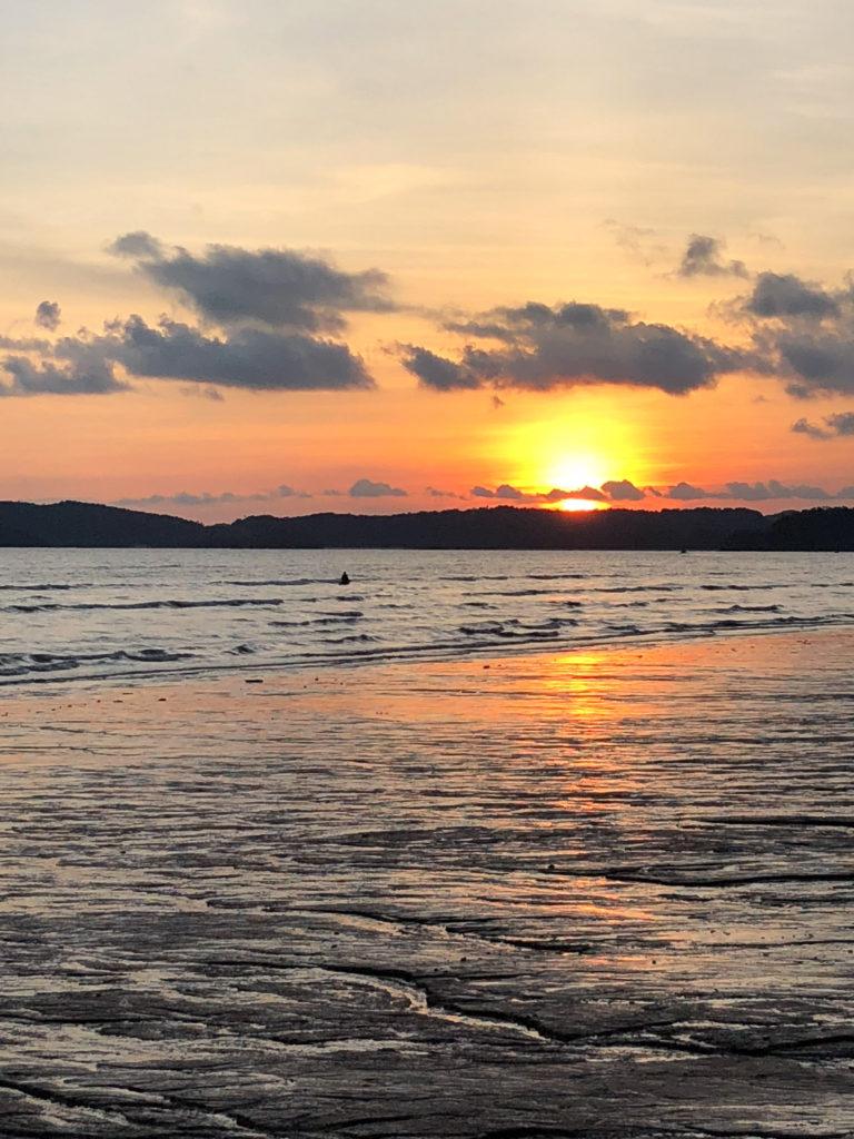 Sunset at Ao Nang Beach
