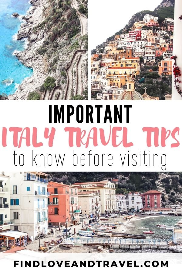 Important Italy travel tips to know before traveling to Italy