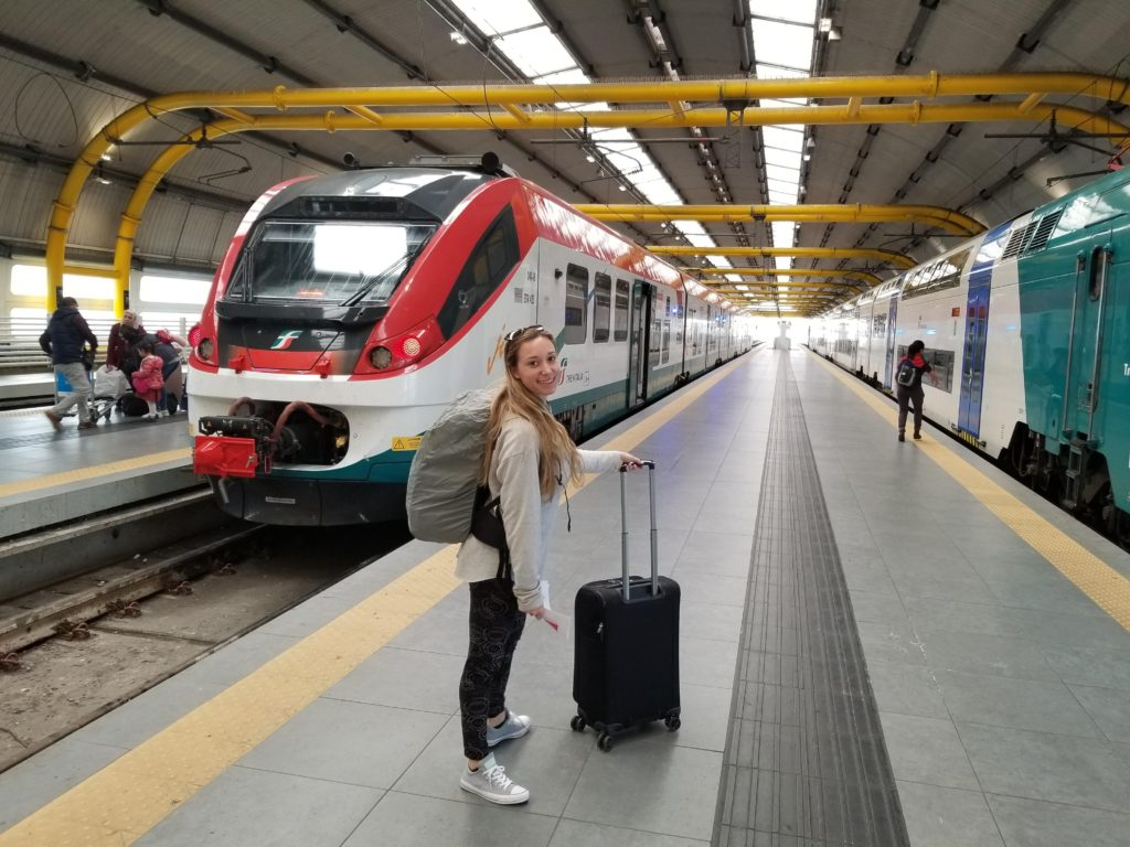 train to get to Sorrento. Taking public transportation helps promote eco-friendly travel