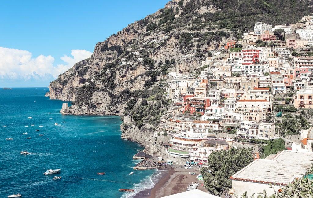 Stop at Positano coast on 4 days to Sorrento