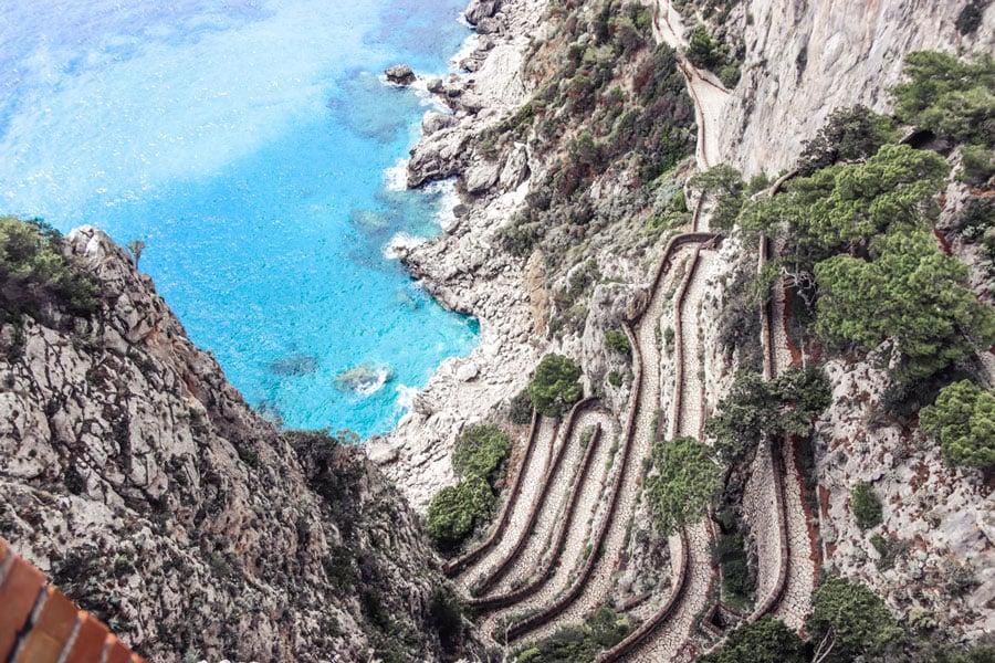 Capri Island ocean view in Italy