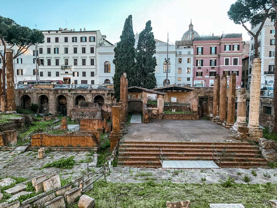 Largo di Torre Argentina is a great place to stop by with 4 days in Rome and where Caesar died