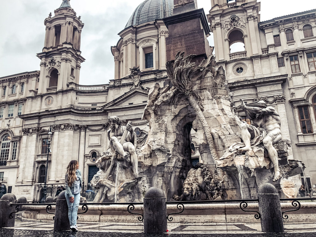 Piazza Navona waterfall with 4 Days in Rome