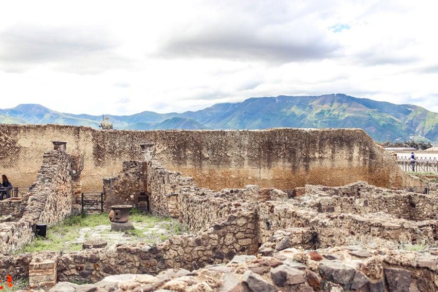 View of Mt. Vesuvius from Pompeii ruins