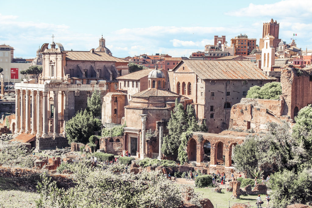 Roman Forum view from Palatine hill
