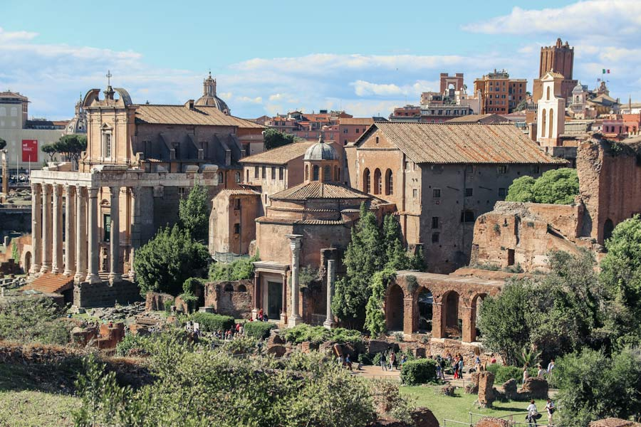 Visiting the Roman Forum is a must with 4 days in Rome Italy. Roman Ruins