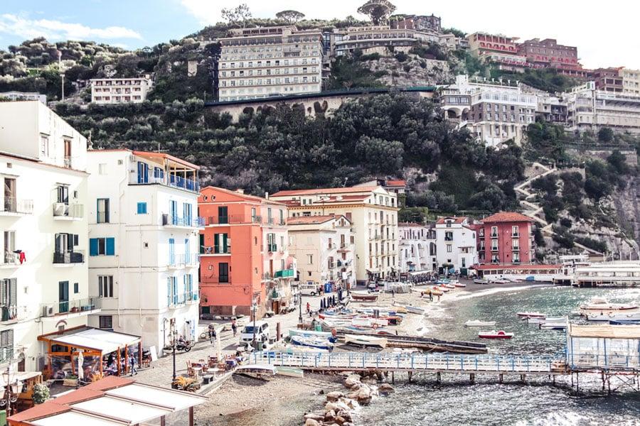 views of Marina Grande in Sorrento 4 days