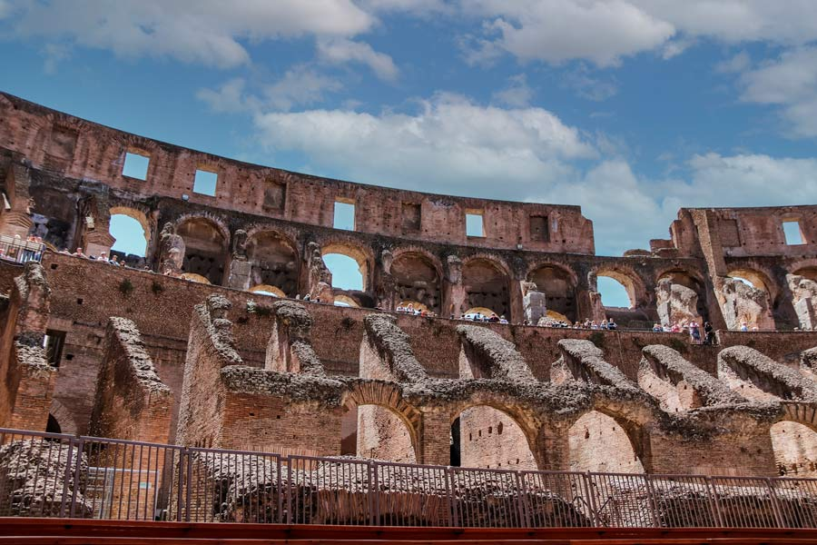 Make sure to visit inside the Colosseum in Rome Italy