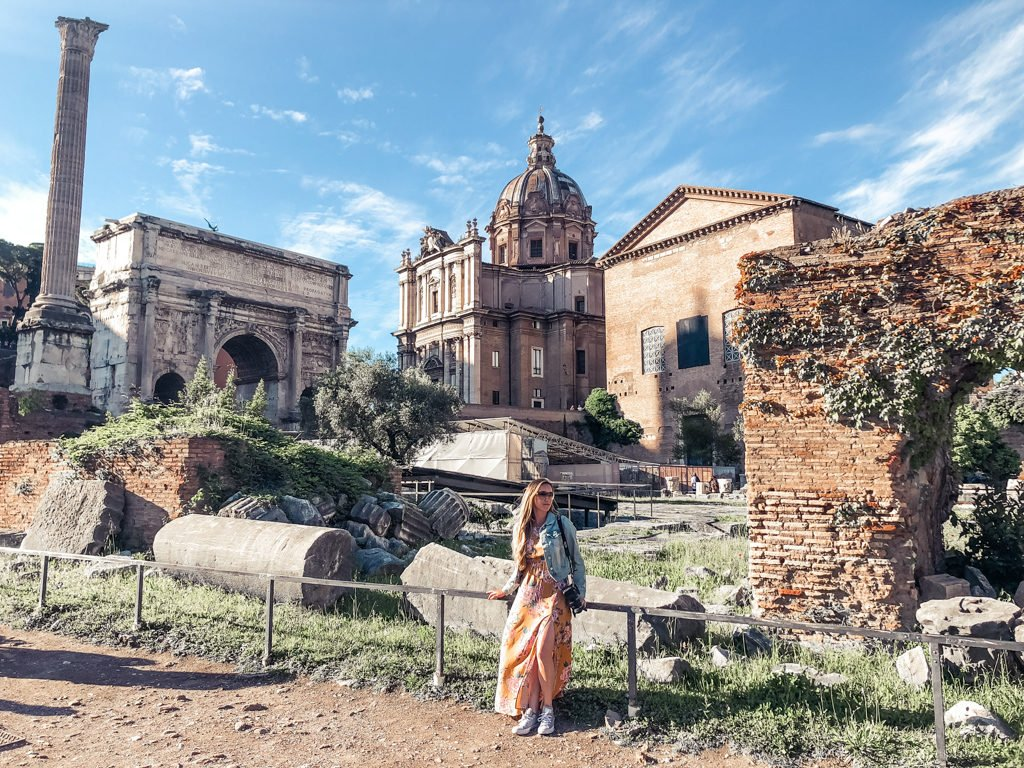 Inside the Roman Forum with 4 days in Rome