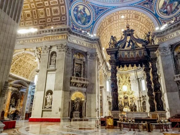 Inside Saint Petersburg Church at the Vatican is a must with 4 days in Rome