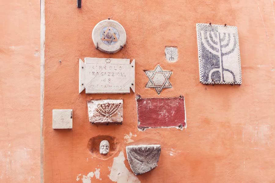jewish ghetto wall art Rome