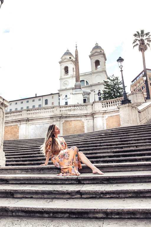 Visiting the Spanish steps with 4 days in Rome