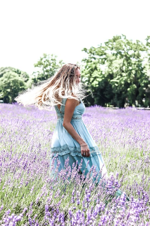 dancing in the lavender fields in New York