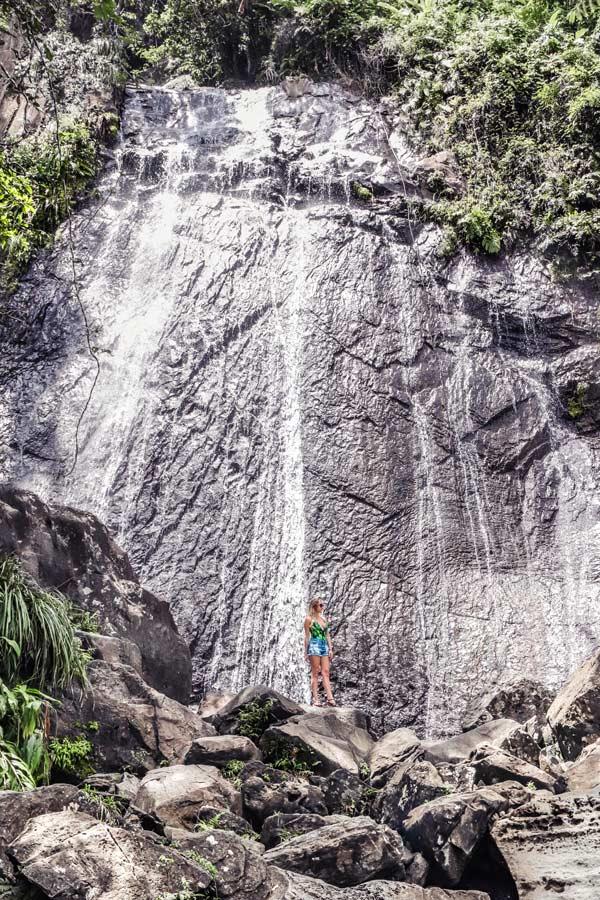 La Coca Falls in El Yunque Puerto Rico