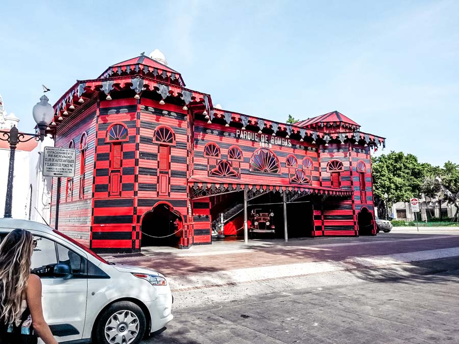 Parque de Bombas Fire house in Ponce