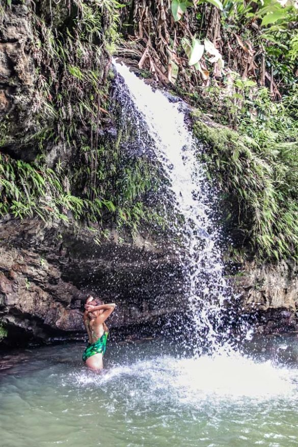 Photo Worthy Waterfall at Juan Diego Creek in Puerto Rico