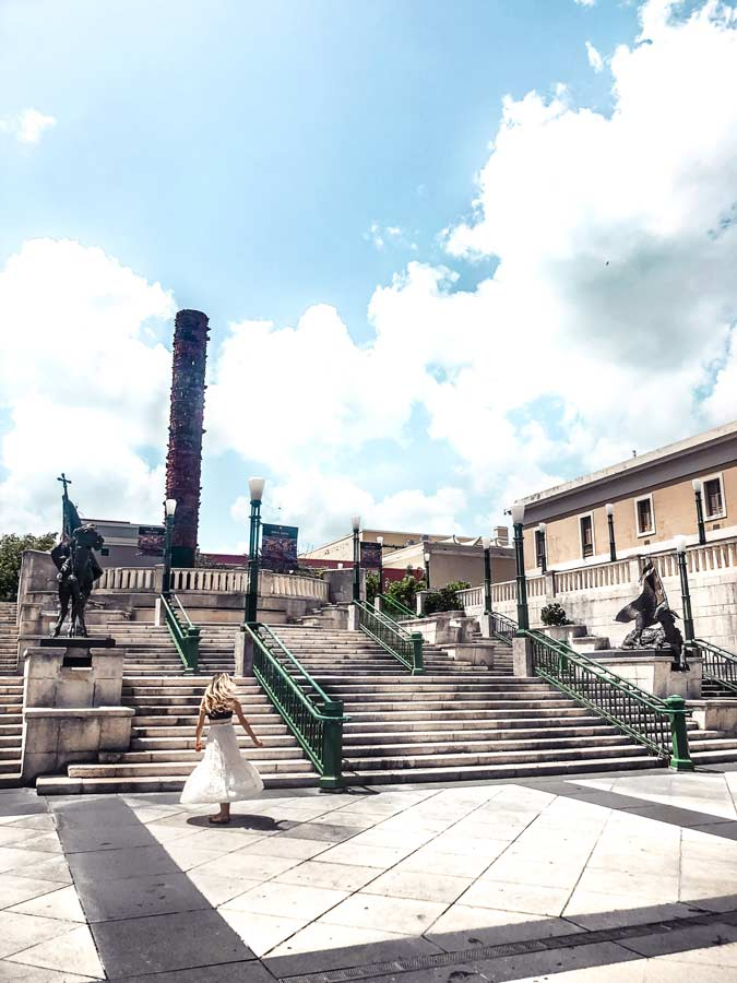 Plaza Del Quinto Centenarioin Old San Juan Puerto Rico is another one of the best things to do