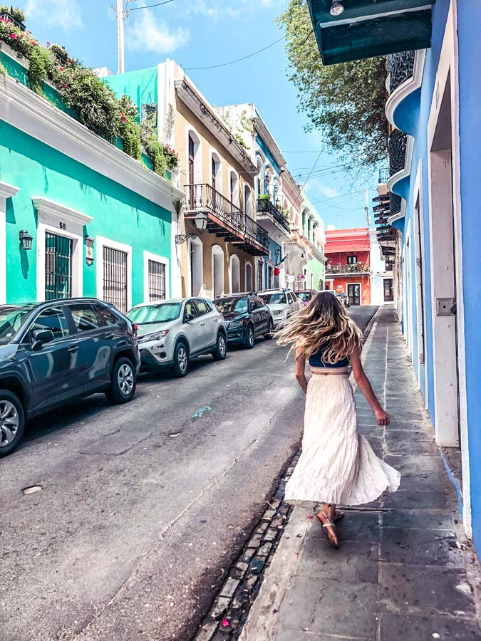 Colorful Streets in Old San Juan Puerto Rico
