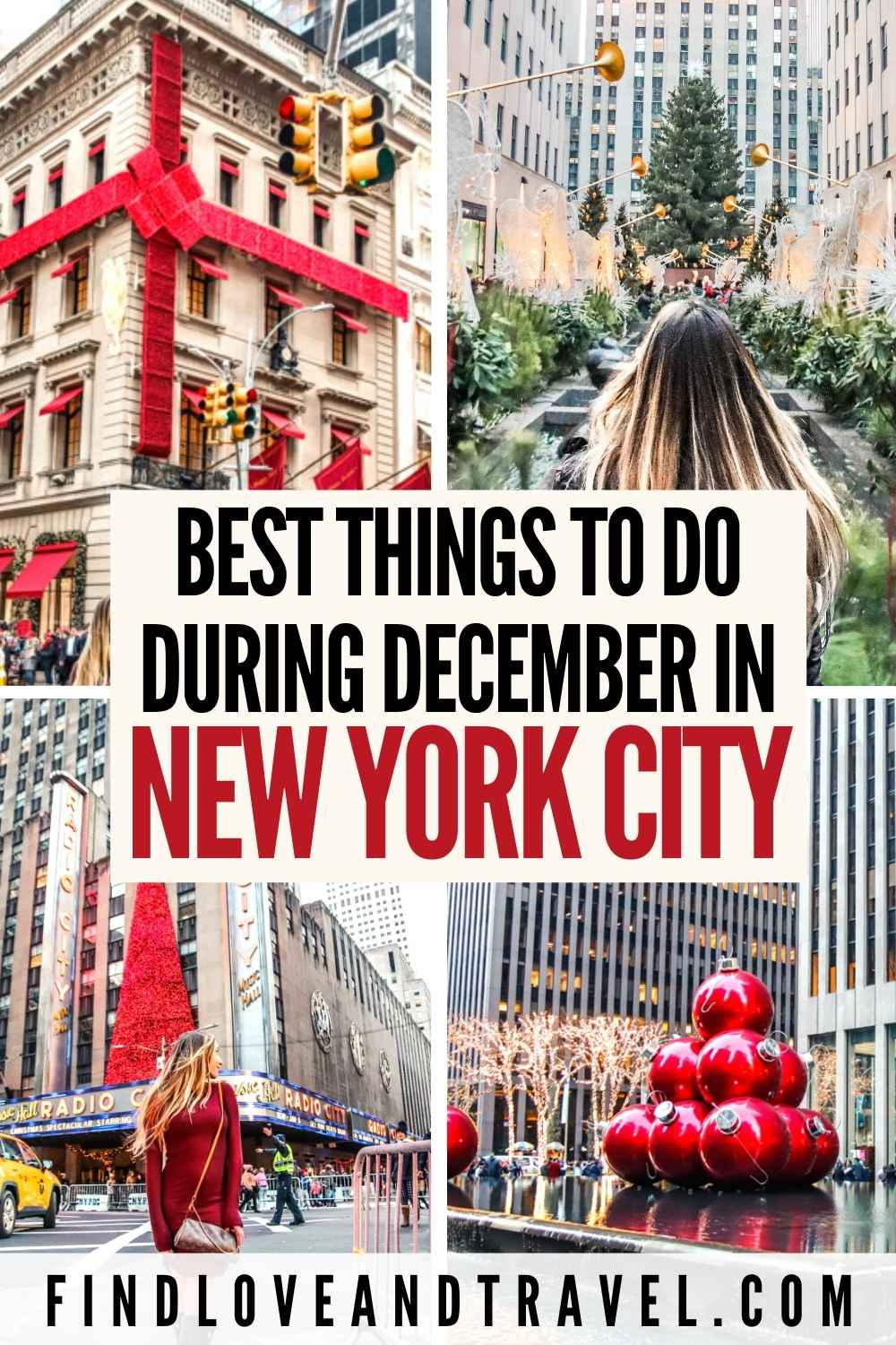 Best things to do in NYC in December and the Christmas Holidays in New York