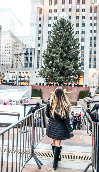 There is a ton of things to do in Rockefeller Center in December including seeing the Christmas tree and Iceskating!