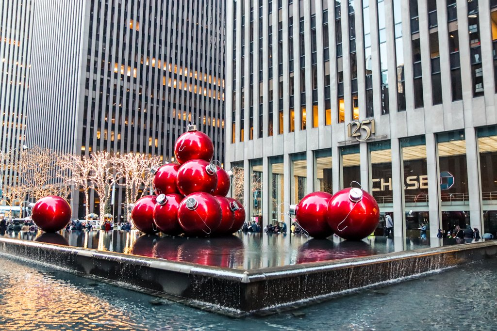 December Holiday Decorations in New York City