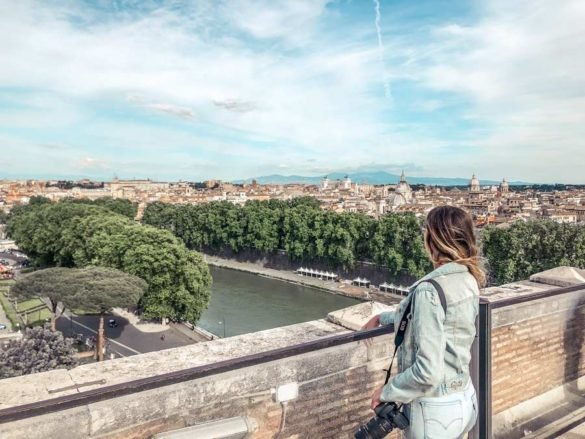 views from Castel Sant'Angelo in Rome