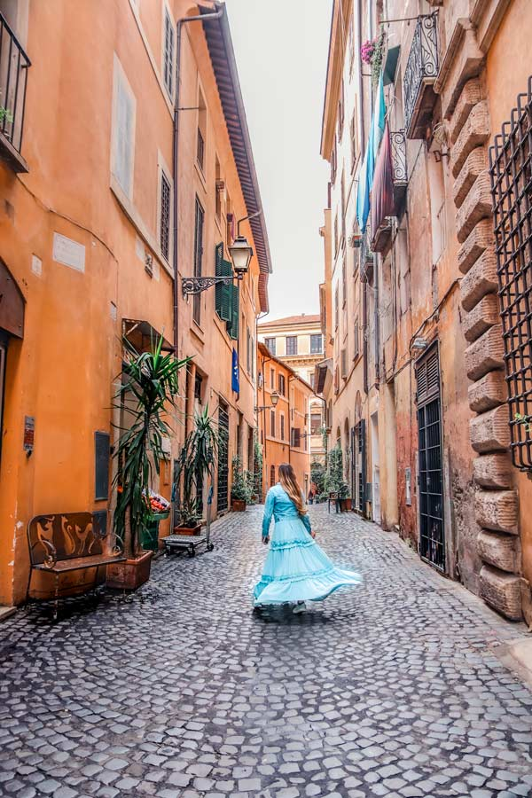 Rome is full of Instagrammable streets including the Jewish Ghetto