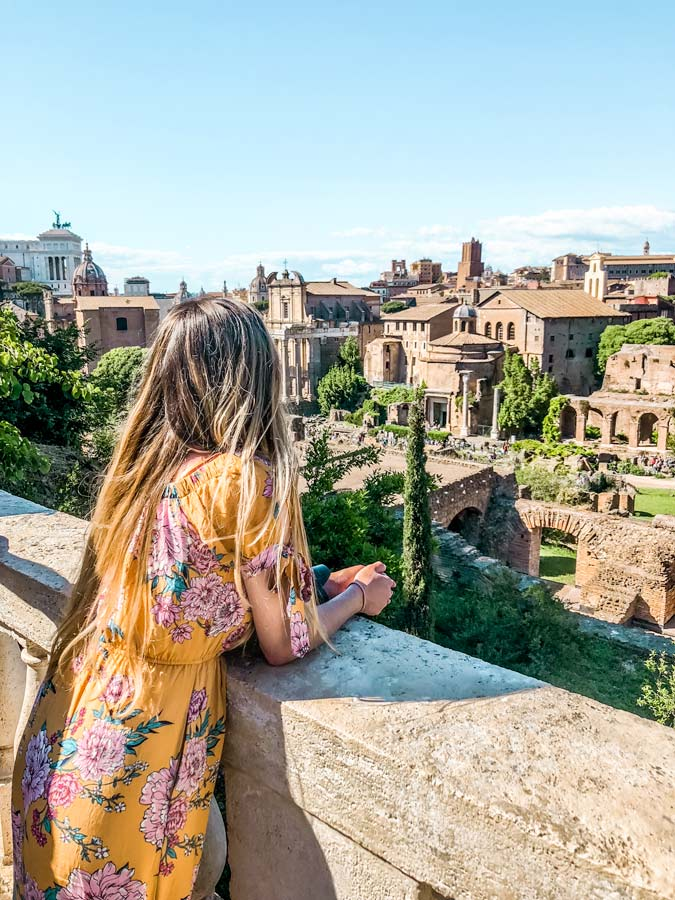 The views from Palatine Hill in Rome are very Instagram worthy