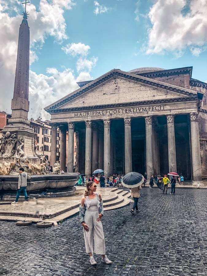 Head to the Pantheon early to get the best Instagram shot