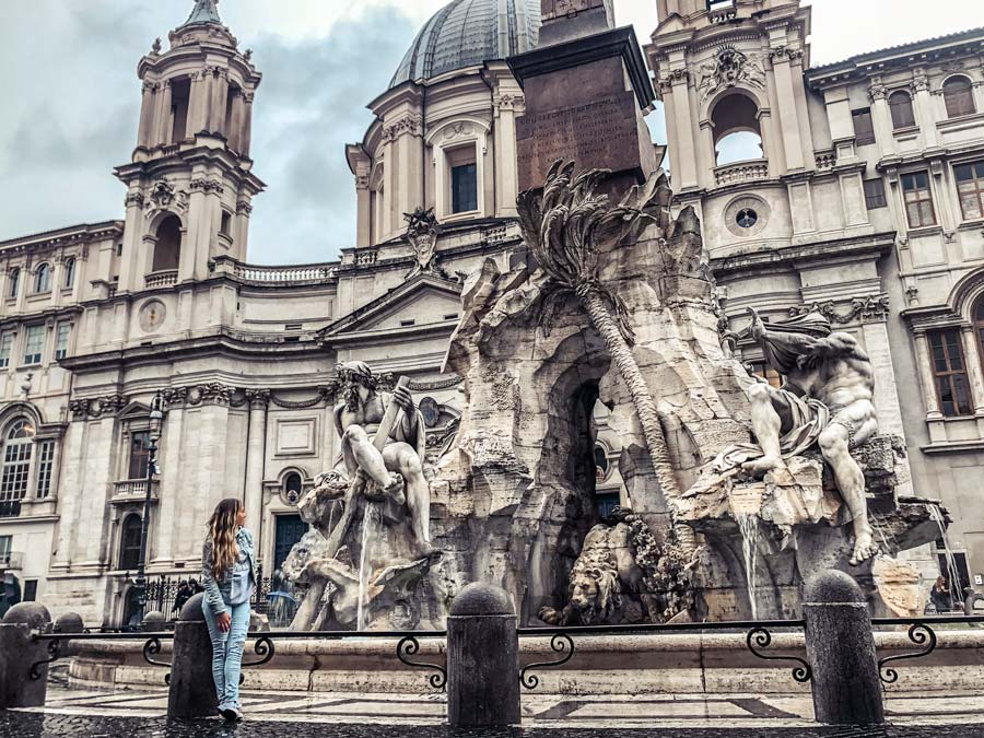 The Best Instagrammable Places in Rome including Piazza Navona