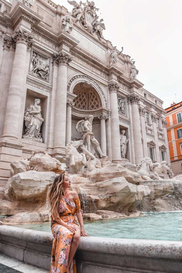 A top instagram spot in Rome in at the Trevi Fountain