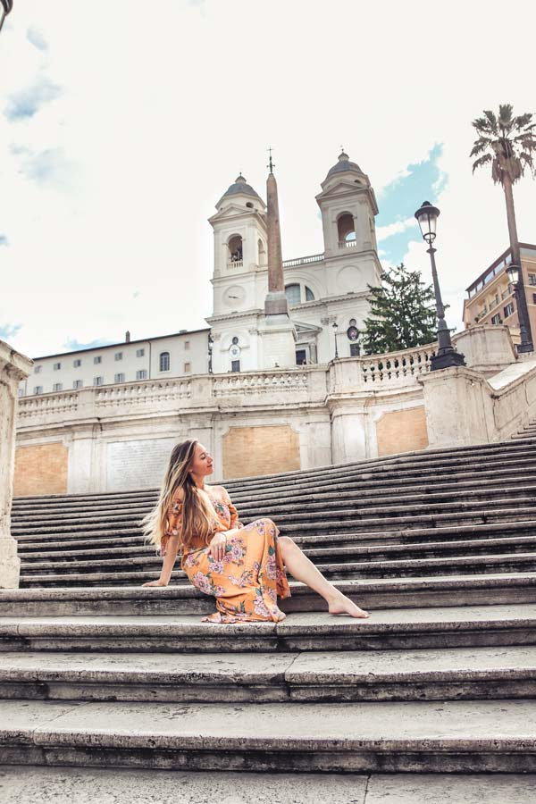The Spanish Steps are a must visit in Rome and are very Instagrammable