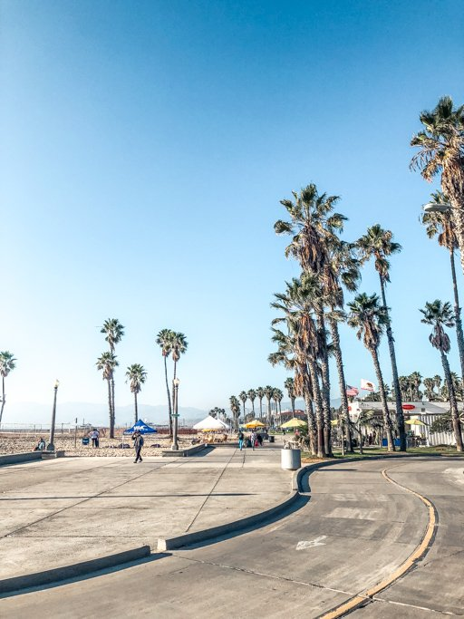 Venice Beach Boardwalk in Los Angeles, California