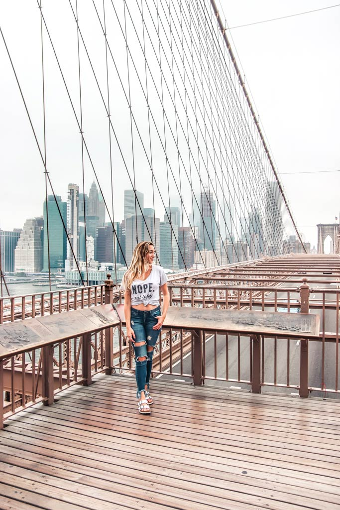 The Brooklyn Bridge is one of the most instagrammable places in NYC