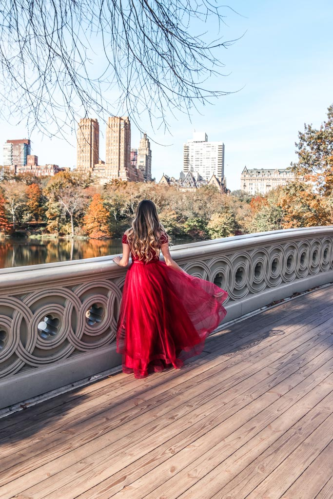 Bow Bridge in Central Park is one of the most instagrammable places in NYC
