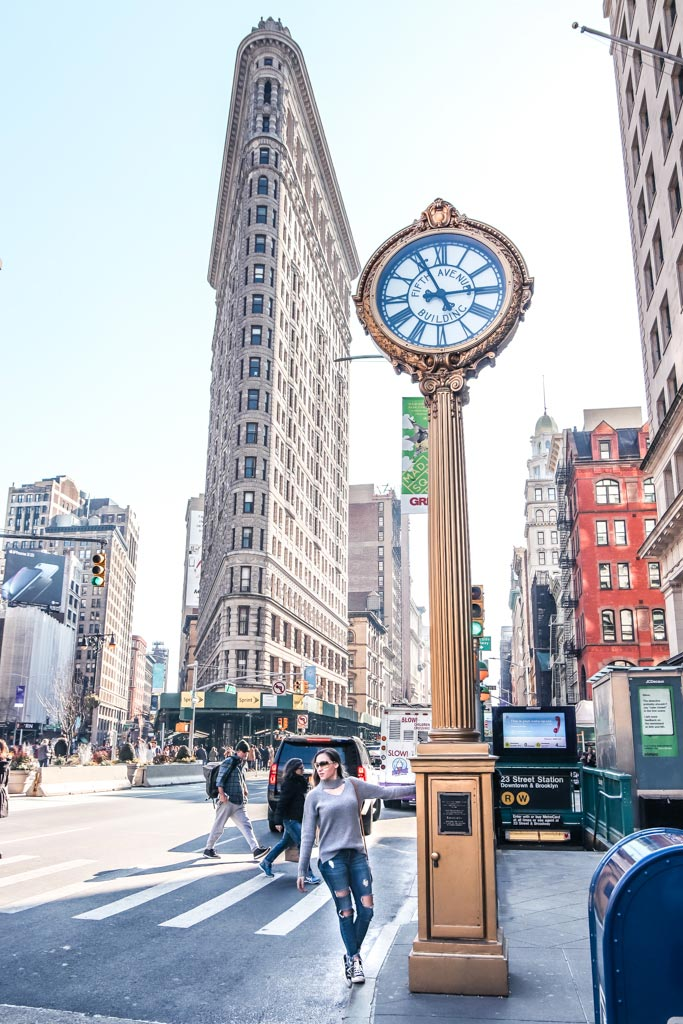 The Flatiron Building is one of the top 10 most instagrammable places in NYC