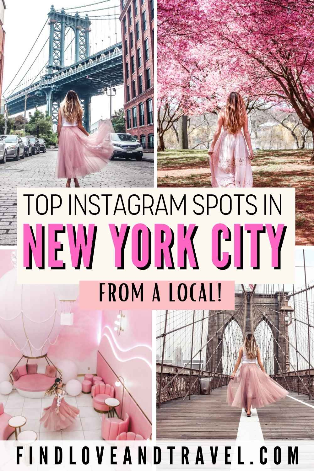 NYC best Instagram Spots to take photoshoots at in New York City.