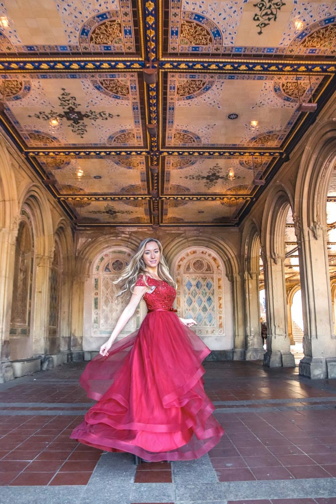 Bethesda Terrace in Central Park, NYC is one of the most instagrammable places in the City