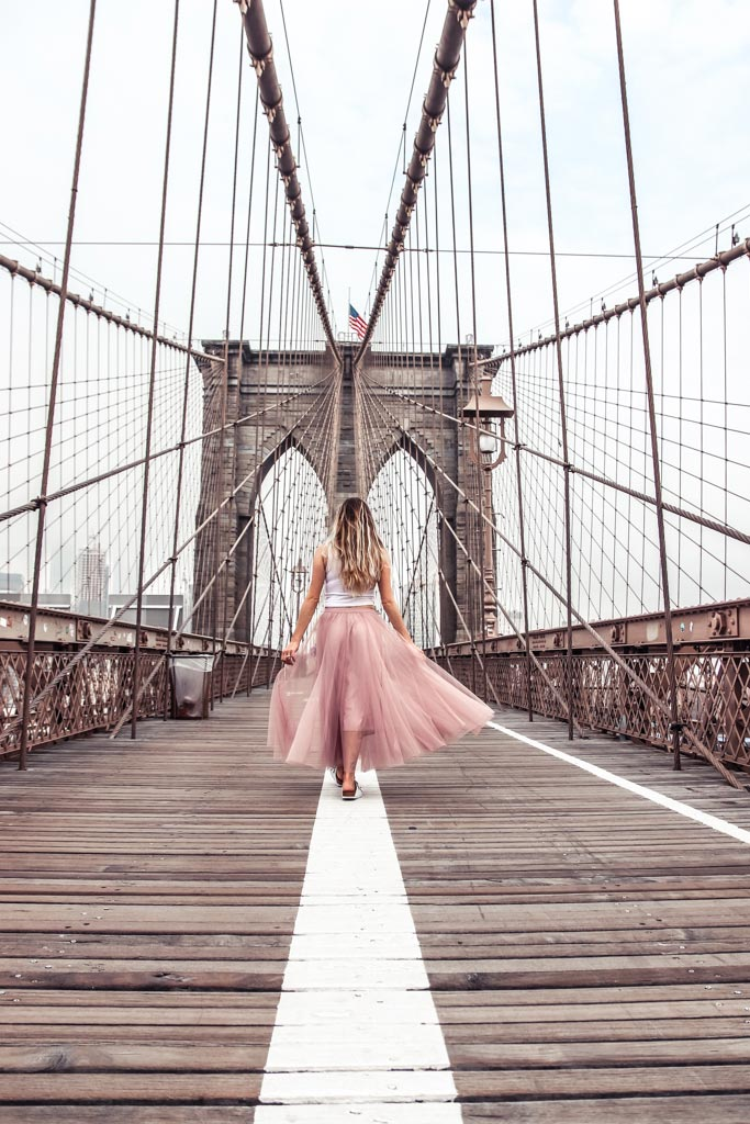 most instagrammable places in NYC include photographing the Brooklyn Bridge