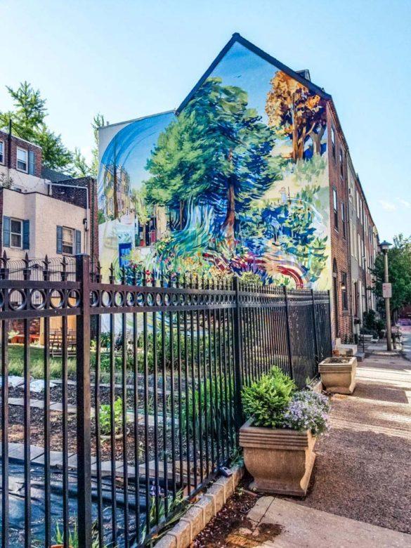 Mural Mile in Philadelphia during the weekend