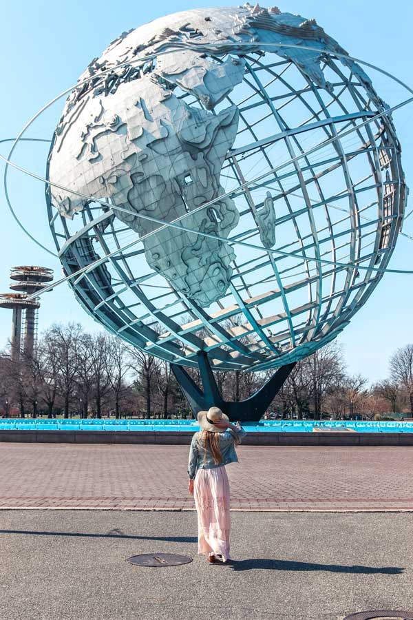 Globe at Flushing Meadows Park NYC Queens