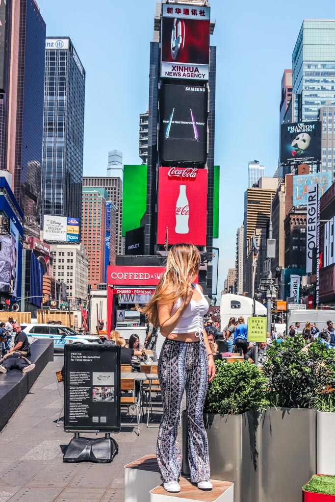 Most instagrammable places in NYC includes Time Square