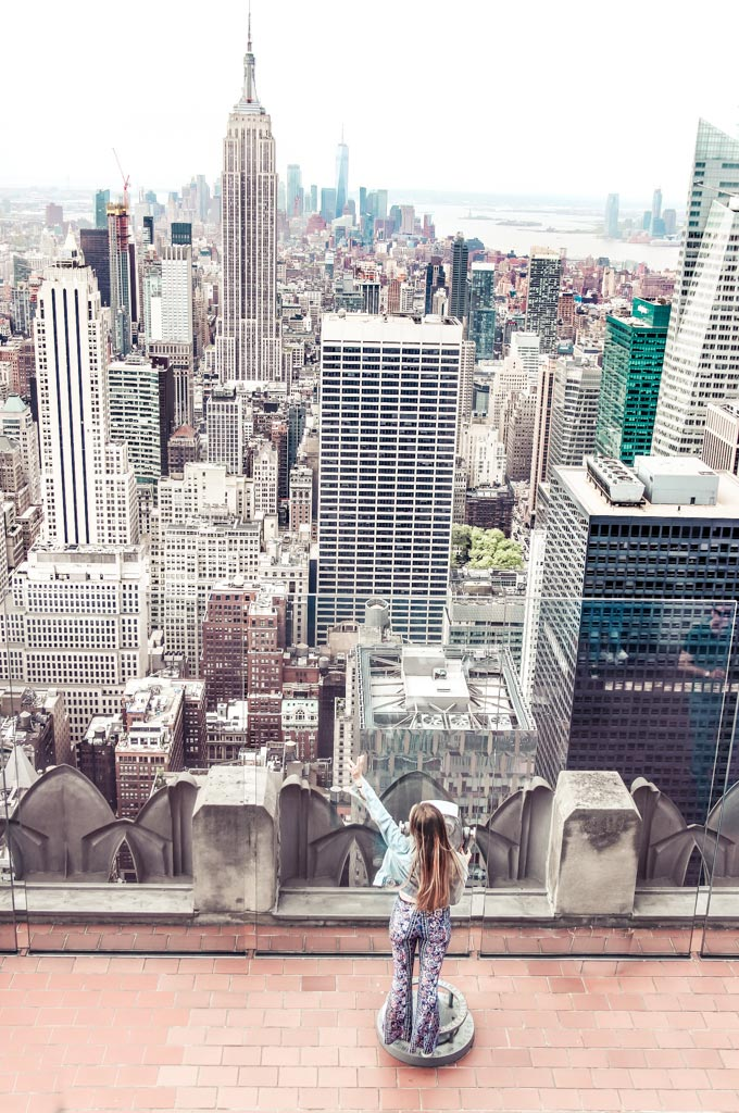 One of the top instagrammable places in NYC is at The Top Of The Rock