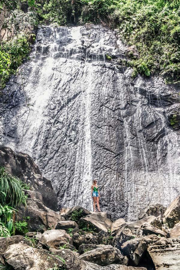 La Coca Falls in El Yunque Tropical Rainforest