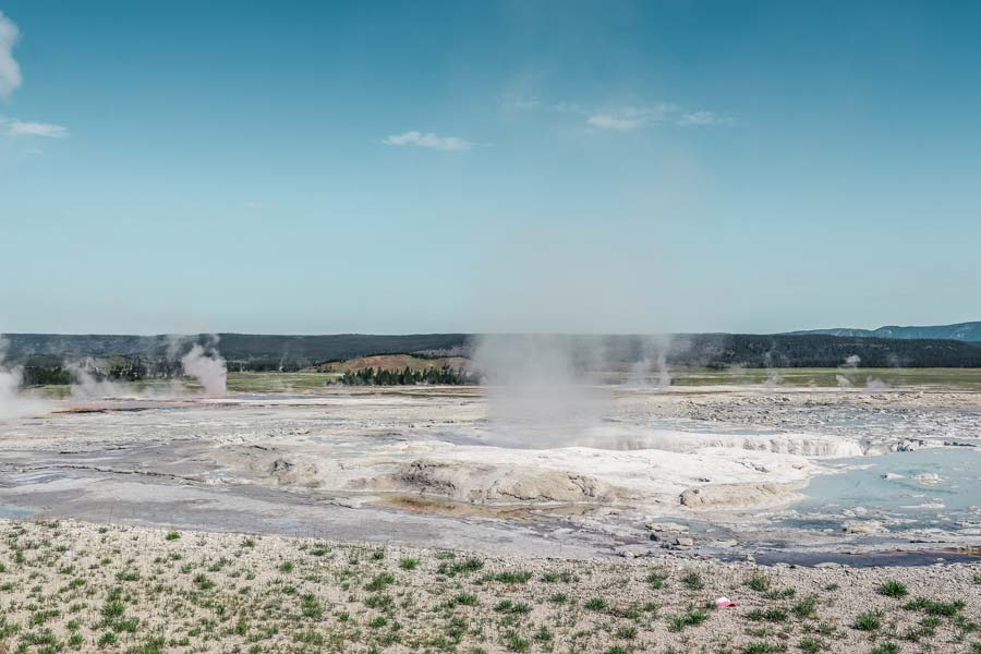 Fountain Paintpot is the first stop on your Yellowstone Itinerary