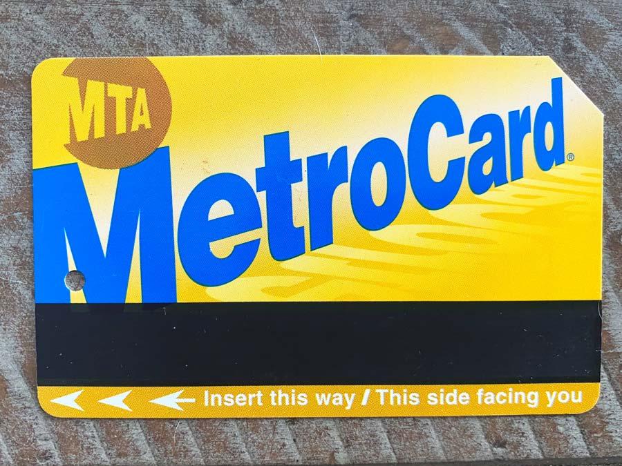 NYC Subway Metro Card to Navigate