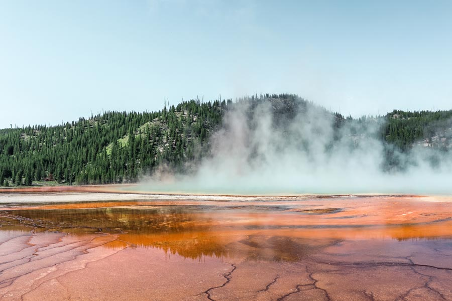 Grand Prismatic Springs is a must-see on any Yellowstone Itinerary
